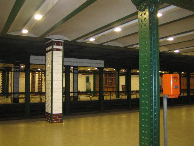 Станция желтой ветки будапештского метро