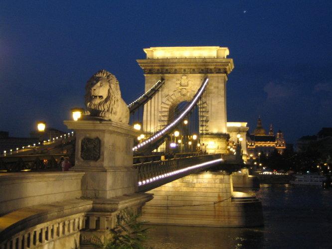 Цепной Мост вечером