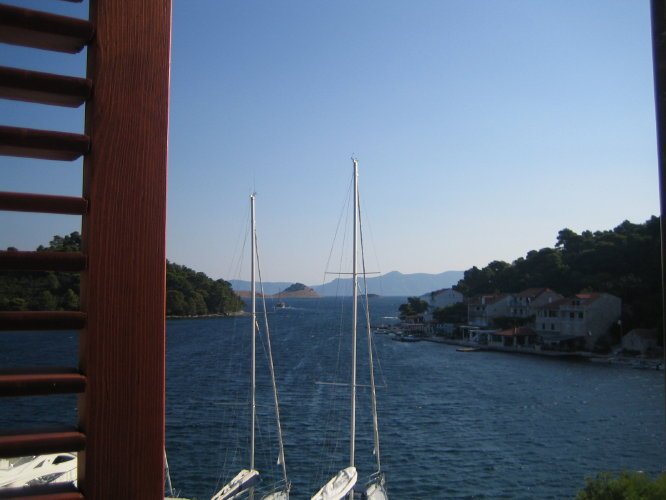 Вид из номера отеля Odisej