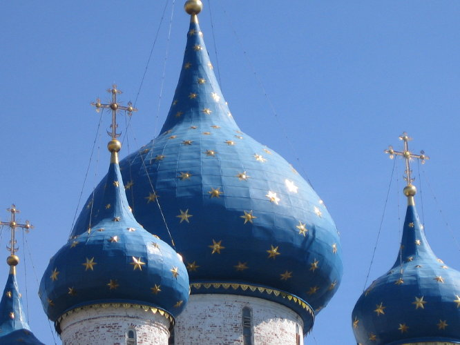 Купола Рождественского Собора суздальского Кремля